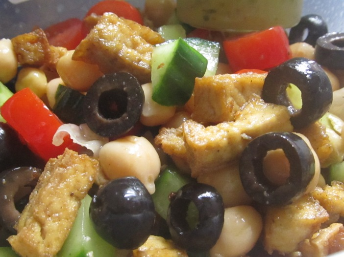 Post 48 - Tofu and chickpea salad